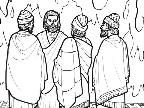 Meshach, Shadrach and Abednego are delivered from the fiery furnace. – Slide 5