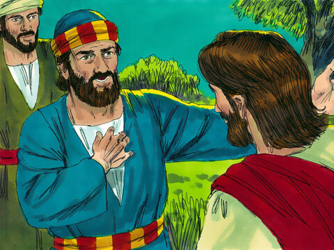 'No!' Peter insisted. 'Not even if I have to die with you! I'll never deny you!' And all the other disciples vowed the same. – Slide 4