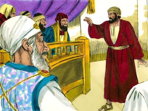 The chief priests and Jewish leaders were looking for evidence against Jesus so that they could put Him to death, but they did not find any. Many testified falsely against Him, but their statements did not agree. – Slide 14