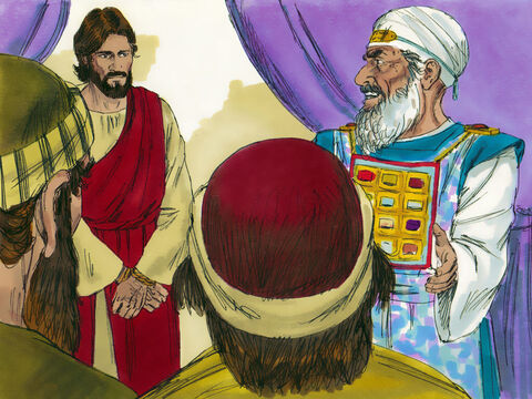 'Are you not going to answer?' The High Priest asked Jesus. But Jesus remained silent. – Slide 16
