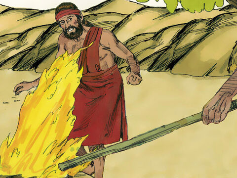 Then the angel of the Lordtouched the meat and bread with the tip of the staff in his hand, and fire flamed up from the rock and consumed the meat and bread. Then the angel of the Lord disappeared. – Slide 7