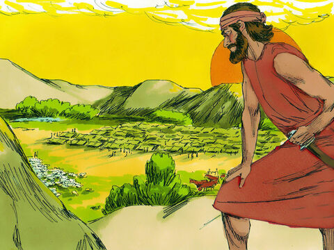 The Midianites and their allies had gathered an army of 135,000 to rob the Israelites of their crops and food. God has promised Gideon He would give him victory over them. – Slide 1