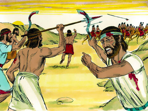 They captured Oreb and Zeeb, the two Midianite commanders and executed them. – Slide 11
