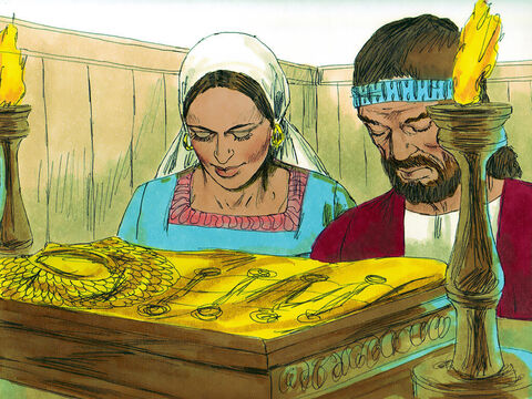 Gideon made the gold into an ephod,which he placed in his home town of Ophrah. However the Israelites started worshipping the ephod and it became a snareto Gideon and his family. – Slide 9