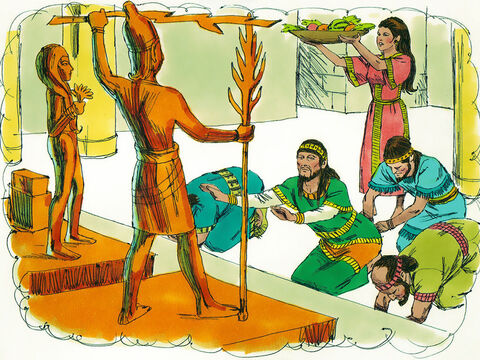 During Gideon's lifetime, the land had peacefor forty years. No sooner had Gideon died, however, than the Israelites started worshipping the idol Baal once more. – Slide 10