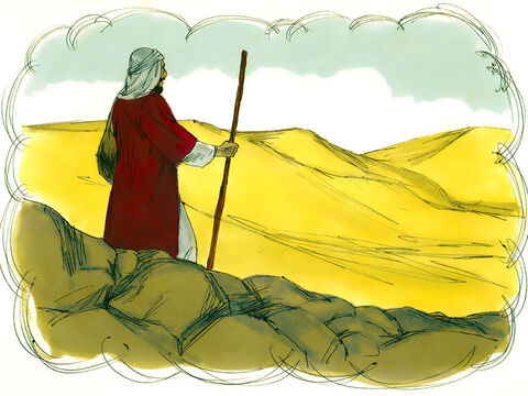 'There was once a man who was going down from Jerusalem to Jericho. – Slide 5