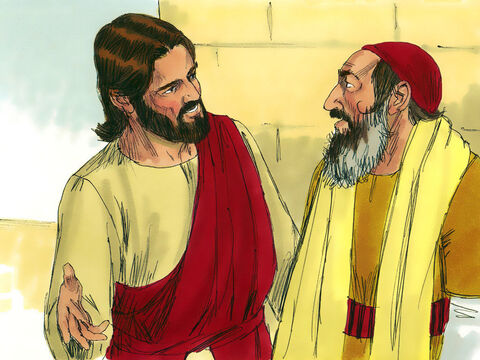 Jesus concluded, 'In your opinion, which one of these three acted like a neighbour toward the man attacked by the robbers?' The teacher of the Law answered, 'The one who was kind to him.' Jesus replied, 'Go and do the same.' – Slide 12