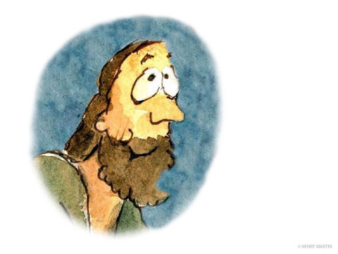 Andrew, Simon Peter's brother, spoke up.  'There's a young boy here with five barley loaves and two fish. – Slide 6