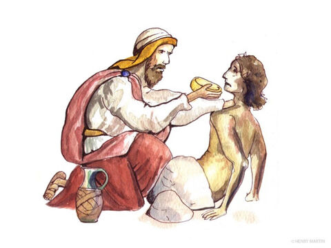 The Samaritan cleaned the injured man's wounds and bandaged them. Then he lifted him onto his donkey and took him to an inn, where he took care of him. – Slide 6