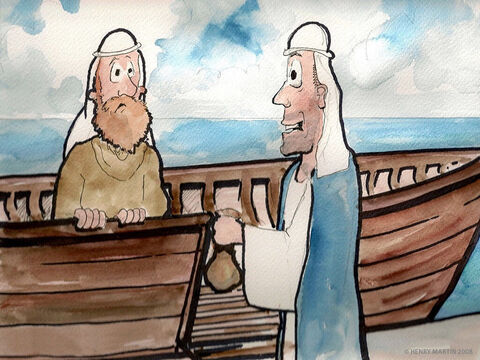 So he headed in the opposite direction to the port of Joppa. He bought a ticket to sail to Tarshish (in modern day southern Spain). – Slide 3