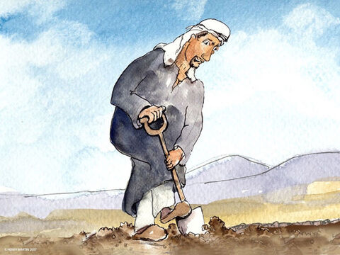 'After he had finished building the wall, he dug a pit for pressing out the grape juice. – Slide 3