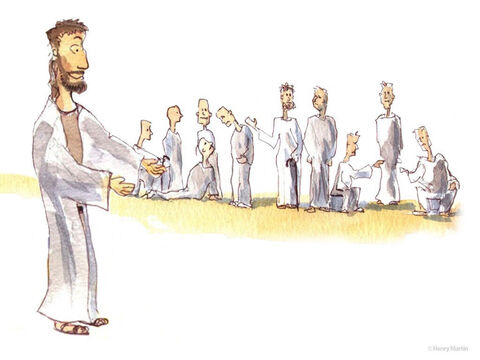 Because those with leprosy were considered to be unclean, they stood at a distance and called out loudly, 'Jesus, Master, have pity on us!' When Jesus saw them, he said, 'Go, show yourselves to the priests.' – Slide 2