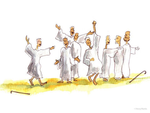 And as they went, they were cleansed – completely healed of their leprosy. – Slide 3