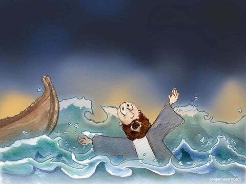 'Help!  Save me,' Peter cried! – Slide 13