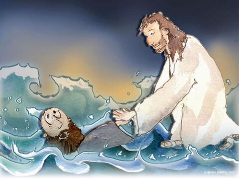 'O man of little faith,' Jesus said, 'Why did you doubt?' – Slide 15