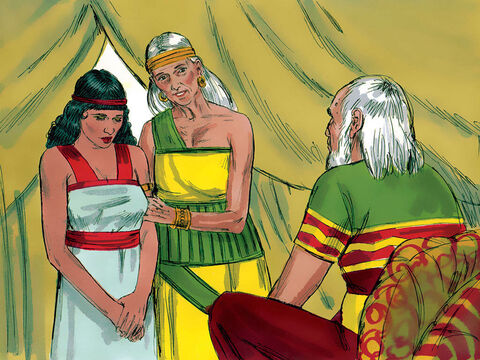Sarai had an Egyptian servant called Hagar. She took her to Abram and said, 'I have not borne children but I am giving you Hagar so you can have a child with her.' Abram and Hagar conceived a child together. – Slide 2