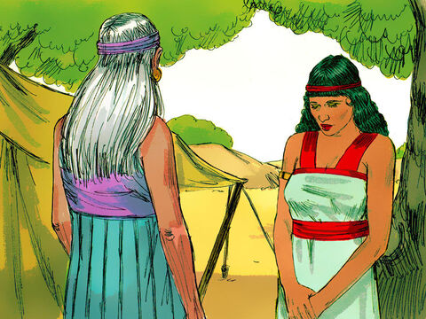 Once she was pregnant Hagar despised Sarai who in turn mistreated her. Life for Hagar was so miserable that she ran away into the desert. – Slide 3