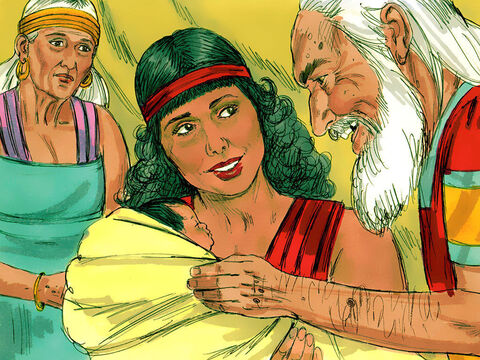 Hagar obeyed and when the child was born he was named Ishmael. She never forgot how God had come to her rescue and announced, 'You are the God who sees me.' – Slide 8