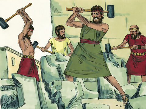 Hezekiah ordered that altars to false gods be smashed to pieces. He broke up the bronze snake Moses had made as people were worshipping that too. – Slide 3
