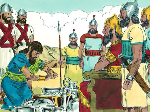 King Sennacherib of Assyria took the money but did not leave the land. – Slide 12