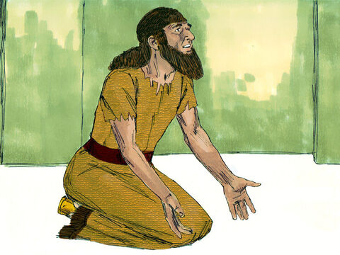 """When King Hezekiah heard their report, he tore his clothes, put on sackcloth and went into the temple of the Lord. He sent his officials to the prophet Isaiah who replied, 'The Lord says """"Do not be afraid. The Assyrians have blasphemed me. I will make the Assyrian King hear of a report that will force him to return to his land where he will be assassinated.' – Slide 16"""