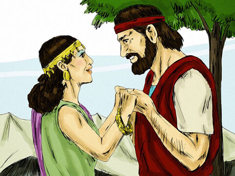 Now Gomer was a very beautiful woman, but God warned Hosea that she would be unfaithful to him and end up living like as prostitute. However, God told Hosea to marry Gomer for it would be a lesson to show how people had become unfaithful to the God who loved them. Hosea married his beautiful bride. – Slide 2