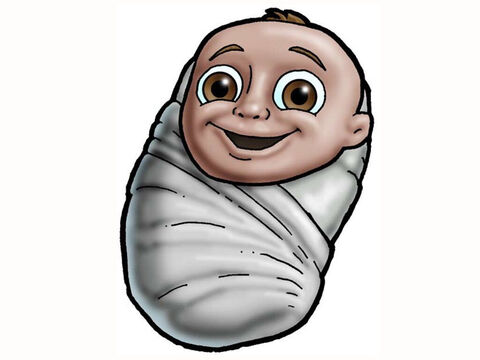 Baby Jesus in swaddling clothes. – Slide 9