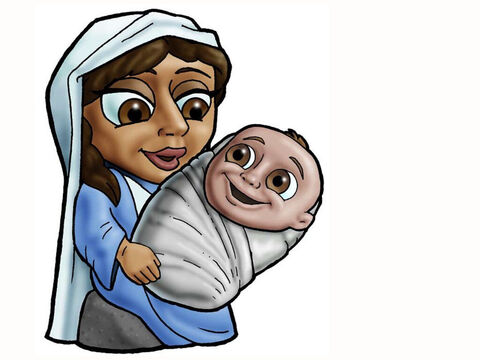 Mary and baby Jesus. – Slide 11