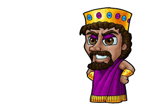 King Ahab. This picture can be used to represent any King in the Bible. – Slide 2