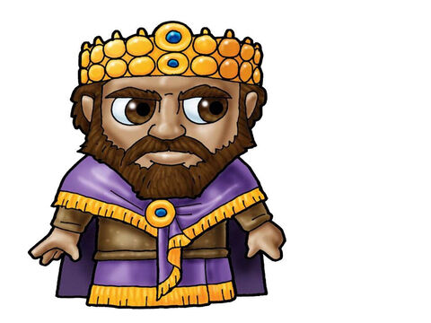 King Ishbosheth. This picture can be used to represent any King in the Bible. – Slide 4