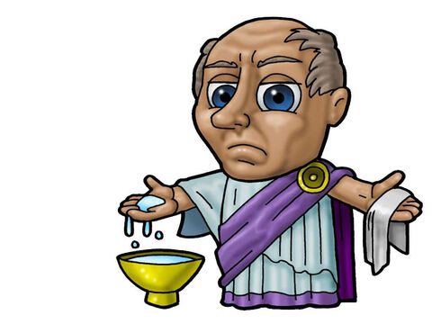 Roman Governor, Pilate. This picture can be used to represent any Roman ruler in the Bible. – Slide 12