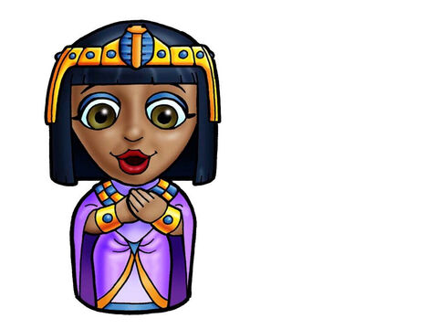 Queen of Egypt. This picture can be used to represent any Egyptian Queen in the Bible. – Slide 19