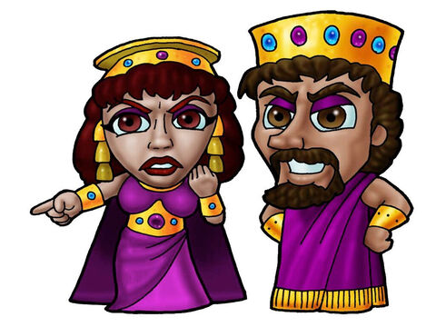 King Ahab and Queen Jezebel. This picture can be used to represent any King and Queen in the Bible. – Slide 20