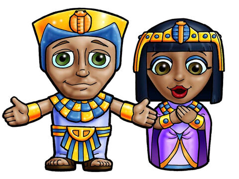 Pharaoh and Queen. This picture can be used to represent any Egyptian Pharaoh and Queen in the Bible. – Slide 22
