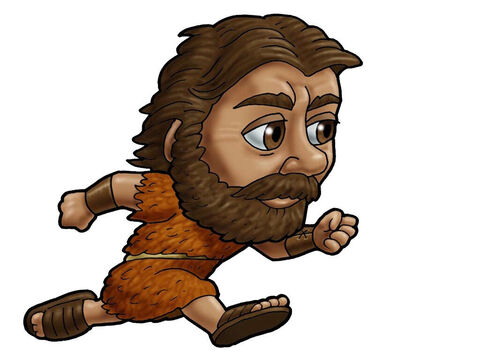 Elijah running. Can be used to represent almost any male Bible character. – Slide 5