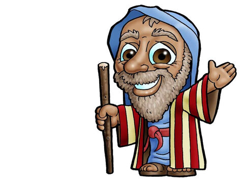 Abraham. This picture can be used to represent almost any older male character in the Bible. – Slide 8