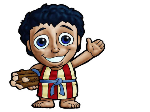 Isaac. This picture can be used to represent almost any young male character in the Bible. – Slide 9