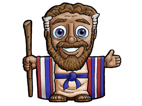 Moses. This picture can be used to represent almost any older male character in the Bible. – Slide 11