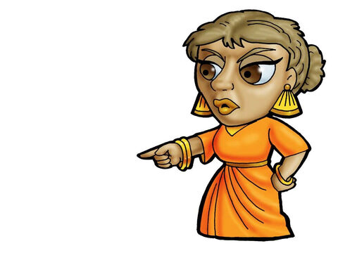 Job's wife. This figure can represent almost any female character in the Bible. – Slide 2