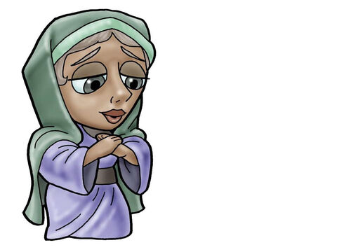 Hannah. This figure can represent almost any female character in the Bible. – Slide 4