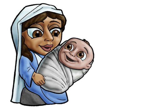 Mary and baby Jesus. – Slide 7