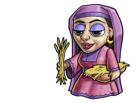 Ruth. This figure can represent almost any female character in the Bible. – Slide 11