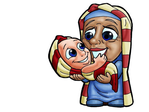 Sarah and Isaac. This figure can represent almost any female character in the Bible. – Slide 14