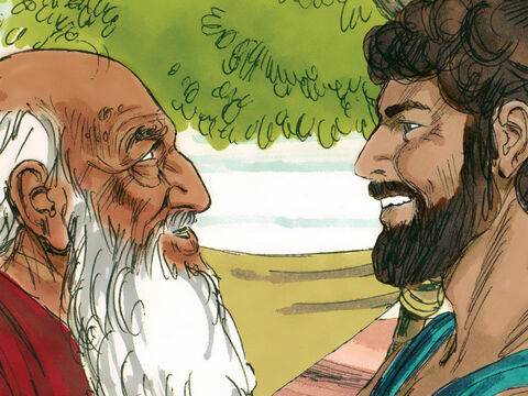 Isaac was now a young man and Abraham was determined that his wife should not be chosen from the Canaanite tribes living nearby who did not worship God. – Slide 3