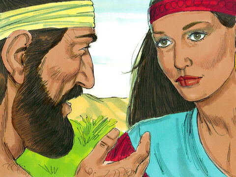 When the camels had finished drinking and the servant had found out Rebekah was from the family of Abraham, he took out a gold ring and two gold bracelets and put them on Rebekah. Then he asked, 'Please tell me, is there room in your father's house to spend the night?' Rebekah replied, 'We have plenty of straw and fodder, as well as room for you to spend the night.'Then the servant bowed down and worshipped the Lord for answering his prayers. – Slide 11