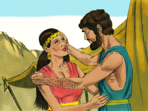 Isaac married Rebekah. She became his wife, and he loved her. – Slide 15