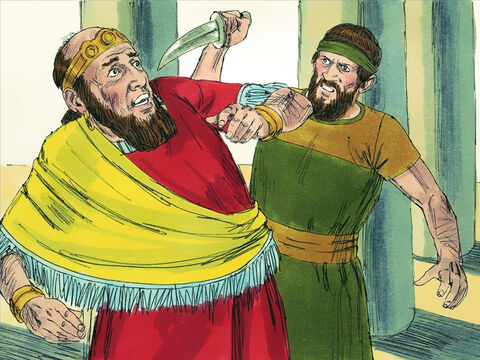 King Menahem, for example, became King of Israel by killing King Shallum – who had killed the King before him. Menahem ruled for ten years but did nothing to encourage people to turn from their disobedience. – Slide 3
