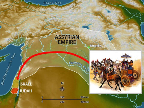 God warned Israel through many prophets that unless they turned back to Him He would allow them to be captured and they would become slaves. When Manahem was ruler, Tigath-Pilesar of Assyria led an army against Israel. – Slide 4