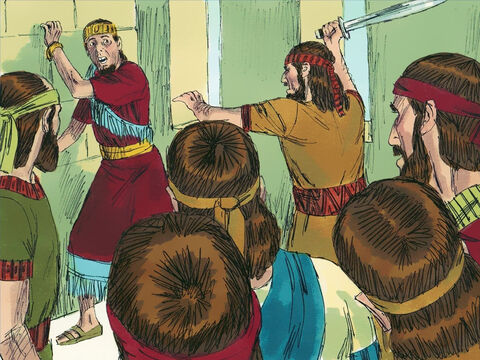 When Menahem died, his son Pekahiah became king. After ruling for two years he was then murdered by Pekah, who became the next king. – Slide 6