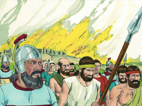 He captured many cities in Galilee and Gilead and took captives back to Assyria as prisoners. – Slide 8